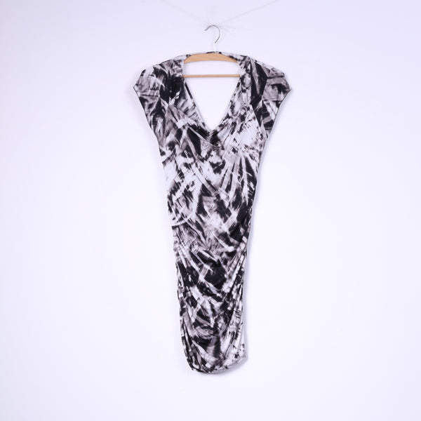Guees Los Angeles Womens S Mini Dress Black White Bodycon
