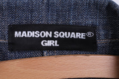 MADISON SQUARE Girls M Jacket Blazer Cotton Single Breasted Denim Jeans