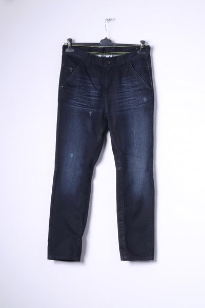 Adidas NEO Drop Crotch Mens W30 L32 Jeans Trousers Navy Cotton Pants