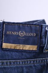 Henri Lloyd Mens 32 Jeans Trousers Navy Cotton Classic Straight Leg Denim Pants