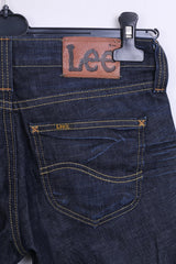 Lee Womens Trousers W28 L33 Denim Jeans Cotton Navy - RetrospectClothes