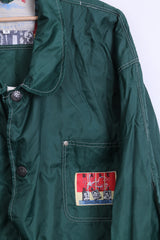 Pro Life Vienna Mens M Jacket Nylon Waterproof Green Vintage