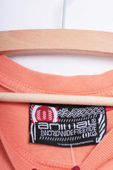 Animal Mens S T-Shirt Orange Cotton Surf Co. Summer - RetrospectClothes