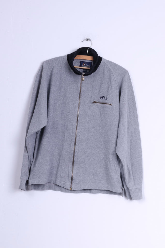 Peak Performance Mens M Sweatshirt Grey Zip Up Cotton Sweden Outdoor Top