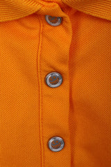ODLO Womens XL Polo Shirt Orange Sport Buttons