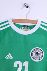 Adidas Boys 15-16 age Shirt Green germany 2012/2013 Jersey #21 Reus