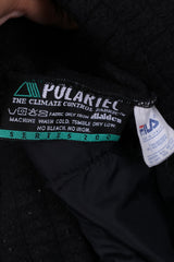 Fila Mens 56 2XL Fleece Top Full Zipper Black Polartec Series 200 Sweatshirt Top Vintage