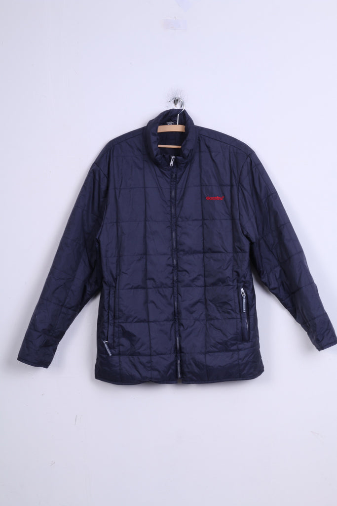 Gaastra Mens M Jacket Navy Blue Nylon Waterproof Quilted  Zip Up