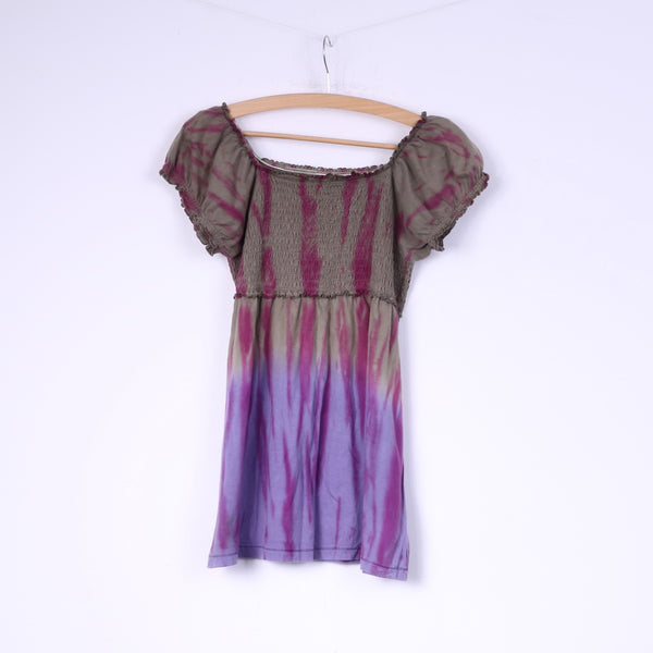 Staccato Girls 164  Shirt Puffy Grey Tie Dye Festival Summer Top