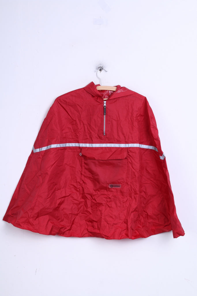 Movement Session Boys 116-128 Cape Jacket Raincoat Waterproof Red