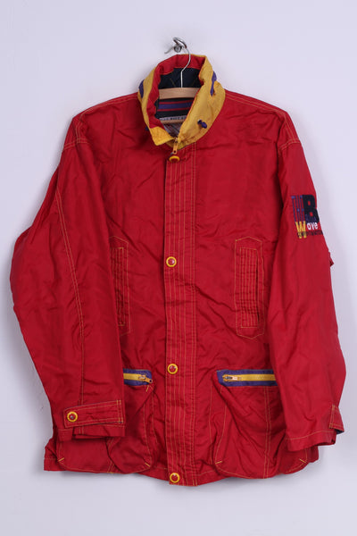 D-xel Blue wave Kollektion Womens 16 XL Jacket Outdoor Wear Full Zipper Red Nylon Vintage