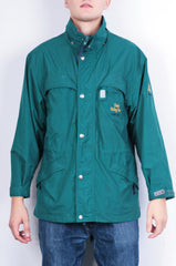Classic Riding Wear Mens S Jacket Nylon Waterproof Hoodie Parka Green - RetrospectClothes