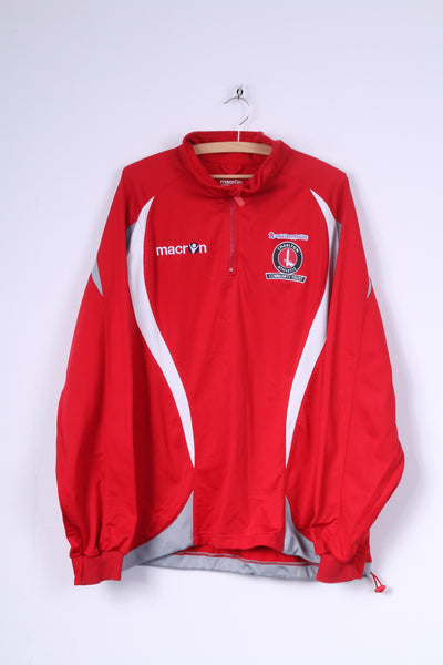 Marcon Mens XXL Warm Up Sweatshirt Charlton Athletic Comunuity Trust
