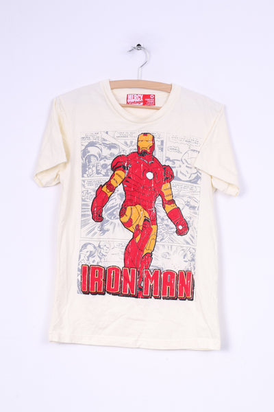 Mercy Vintage Forever Young Mens M (S) Graphic Shirt Iron Man Cotton