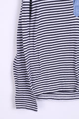 New Zealand Auckland Womens 4 S Polo Shirt Striped Long Sleeve Cotton - RetrospectClothes