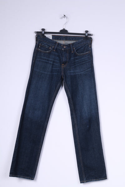 Abercrombie Girls 16 Slim Trousers Jeans Navy Cotton
