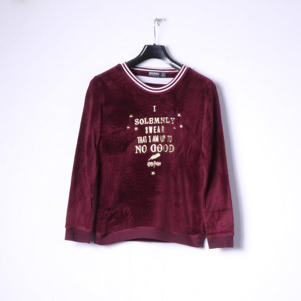 Love to Lounge Womens S Night Shirt Burgundy Harry Potter Sleep Soft Top