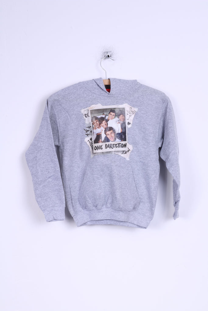 Tammy 1D Girls M Sweatshirt One Direction Grey Graphic Cotton Hoodie