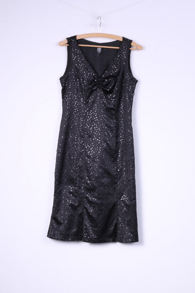 CDN Continue Womens 34 Xs Mini Dress V Neck Sequins Sleeveless Shiny