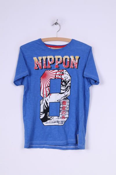 Nippon Osaka Series Mens S T-Shirt Graphic Cotton Blue Summer Top #8