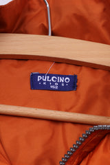 Pulcino Boys 152 Tracksuit Orange Nylon Jacket Trousers Lightweight Set Activewear