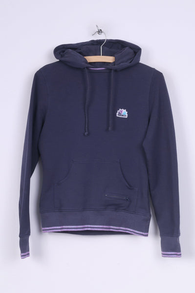 Reebok Womens 12 M Sweatshirt Hooded Jumper Navy Cotton Sportswear