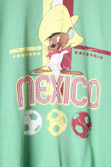 George Looney Tunes Mens L T-Shirt Green Cotton Graphic Mexico Top