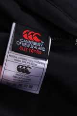 Canterbury Of New Zealand Boys 14 age Jacket Black Double Side Rugby Zip Up Top