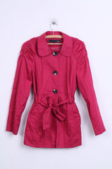 Next Womens 14 XL Coat Amaranth Single Breasted Cotton - RetrospectClothes