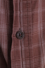 Columbia Mens XXL Casual Shirt Cotton Check Brown Short Sleeve