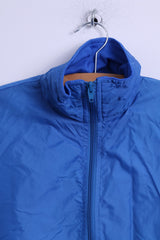 Unkown Mens M Jacket Blue Lightweight Zip Up Baseball Top