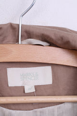 MARKS & SPENCER Womens 22 3XL Coat Long Beige Double Breasted