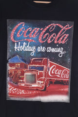 Atmosphere Womens 34 Graphic Shirt Coca-Cola Holidays are coming..