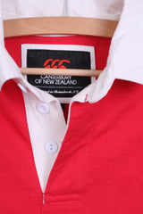 CANTERBURY Of New Zeland Mens S Polo Shirt Red Number 8 Cotton