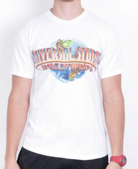 Universal Studios Mens M Shirt White Crew Neck Cotton Vintage 90s - RetrospectClothes