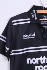 Kooga Newcastle Falcons Boys L Shirt Black Sport Kooga Rugby - RetrospectClothes