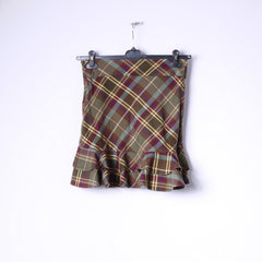Ralph Lauren Girls 12 Age Skirt Green Check 100 Cotton Classic Tartan