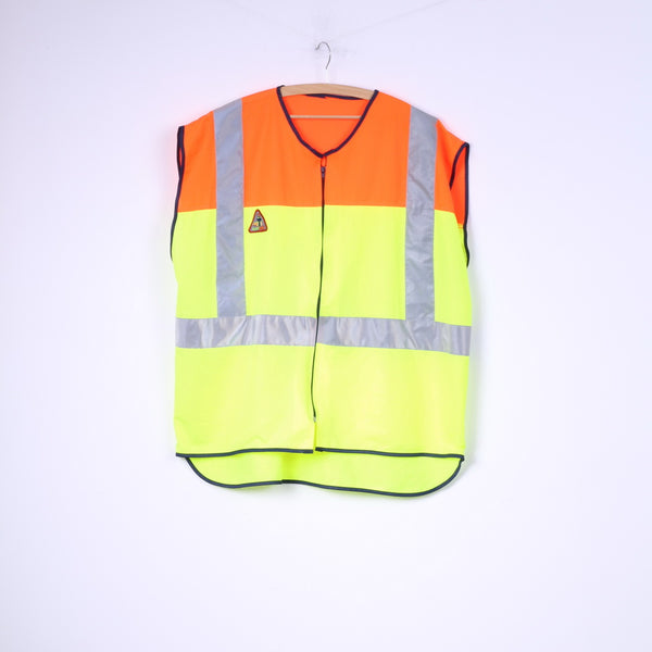 Eurosafe Unisex Onesize Vest Reflective Safety Yellow/Orange