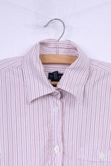 Gant Womens 16 42 M Casual Shirt White Striped Cotton Top