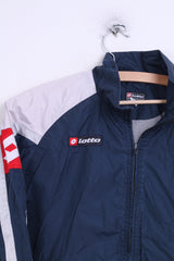 Lotto Boys L Track Top Jacket Navy Hood Sport Nylon Waterproof - RetrospectClothes