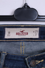 Hollister California Womens W25 L 31 Trousers Denim Jeans Cotton Navy