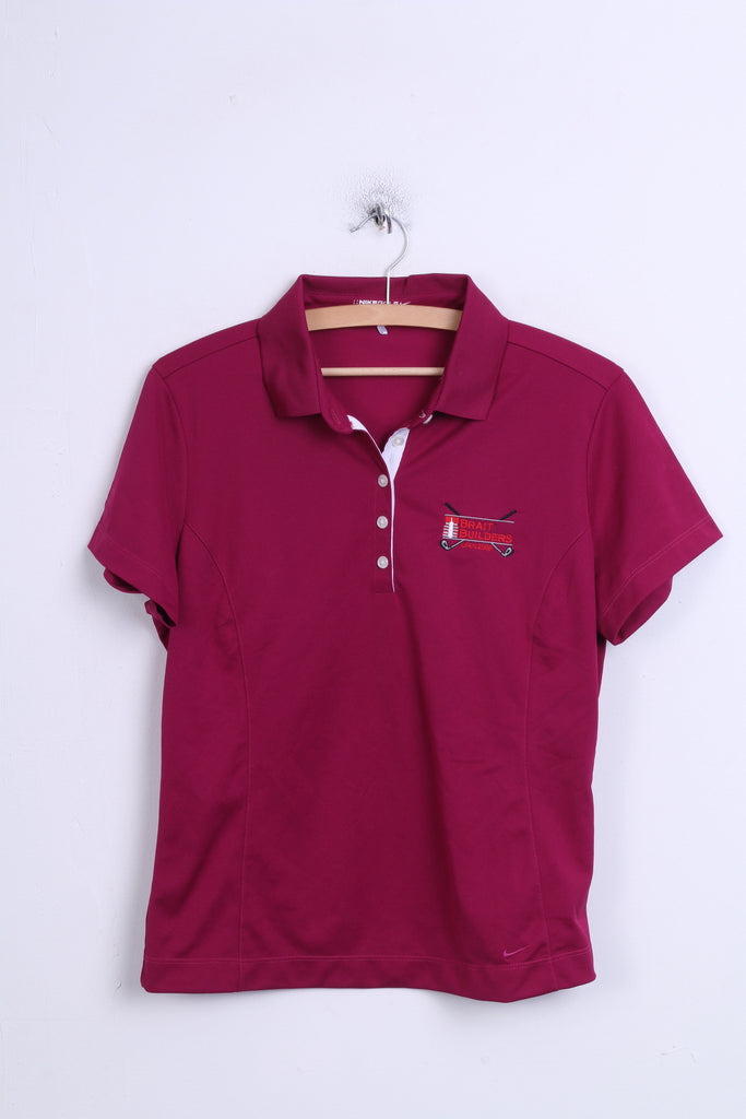Nike Golf Brait Builders Boys L (12-14) Polo Shirt Amaranth Sport - RetrospectClothes