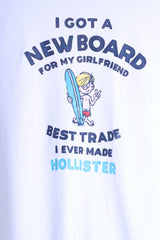 Hollister California Mens XL T-Shirt White Cotton Graphic New Board Summer Top