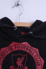 Liverpool Football Club Mens S Sweatshirt Cotton Black Hooded L.F.C. Official Top