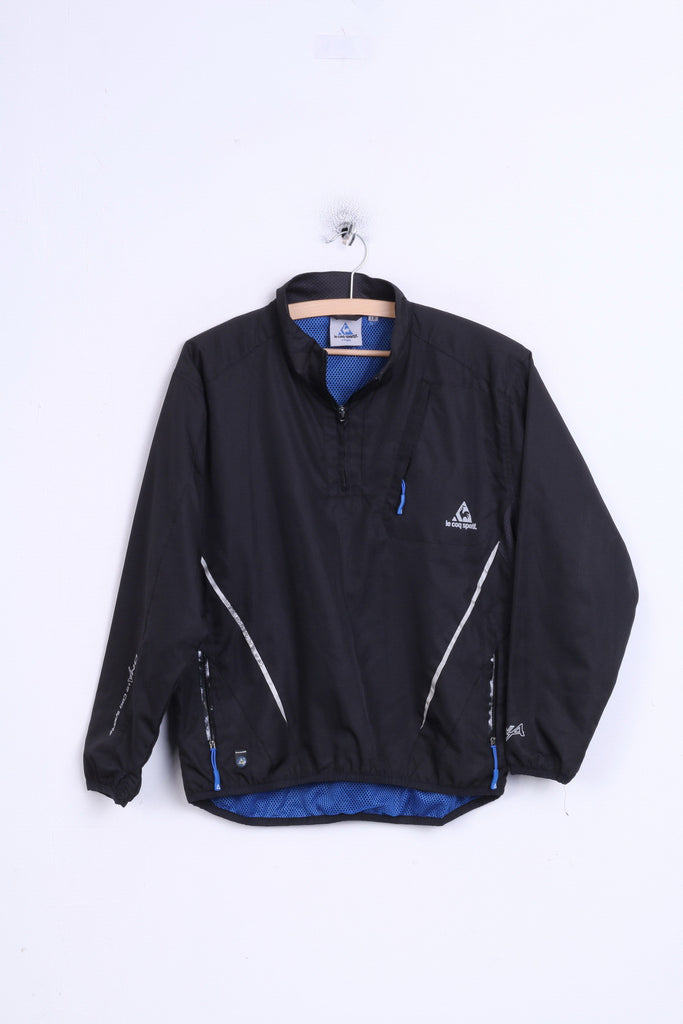 Le Coq Sportif Boys L Jacket Black Zip Neck Sport