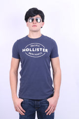Hollister Pacific Mens M Shirt Navy Blue Short Sleeve Summer Cotton - RetrospectClothes