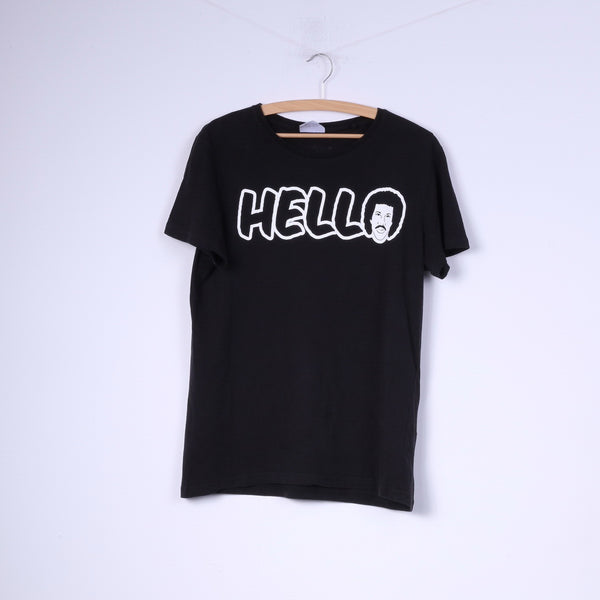 Cedar Wood State Lionel Richie Womens L T-Shirt Graphic Cotton Top Black Hello Is It My You're Looking For?