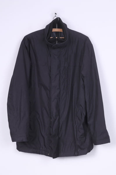 M&S Collection Mens M Jacket Navy Full Zipper Padded