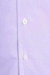 New Zealand Auckland Mens L Casual Shirt Check Purple Cotton - RetrospectClothes