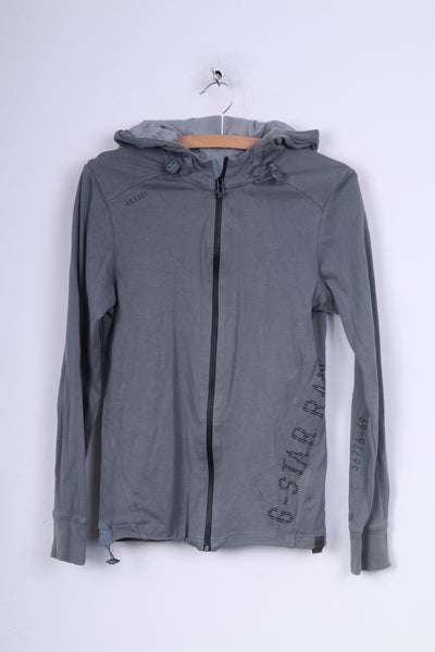 G-Star Raw Womens M Jumper Hooded Sweatshirt Grey